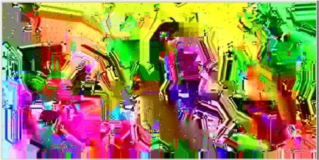 Sample video frame from an Argon Streams bit-stream, shows the directed random number based approach ...
