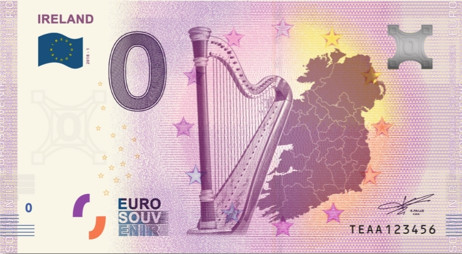 Euro Note Souvenir Irelands First 0 Euro Banknote Officially Released Business Wire