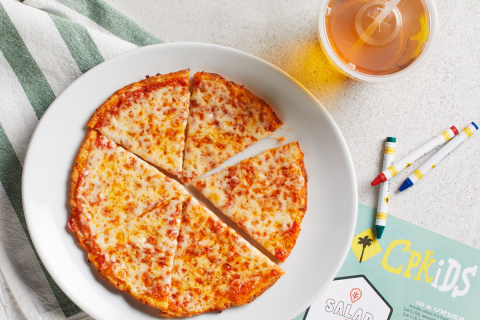 CPKids can now order their favorite CPK pizza on Cauliflower Pizza Crust. Photo: California Pizza Kitchen