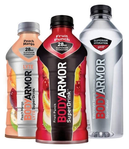 The fast-growing BODYARMOR trademark includes BODYARMOR Sports Drink, BODYARMOR LYTE Sports Drink and BODYARMOR SportWater. (Photo: Business Wire)