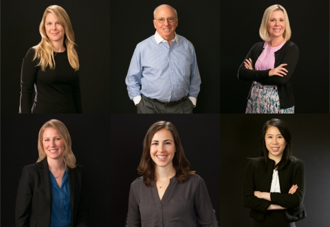 PHOTO: Law firm Loeb & Loeb's new San Francisco attorneys (left to right): TOP - partners Audrey Scott, Myron Sugarman and Nicole Webb; BOTTOM - associates Alison Sundberg, Jessica Mills and Elizabeth Mak (Photo: Business Wire)
