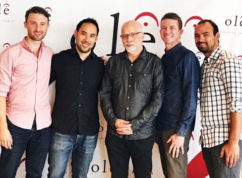 From L-R: ole's Tyler Hurst and Ryan Eng, Dan Hill, ole's Paul McGuire and James Webster (Photo: Bus ...
