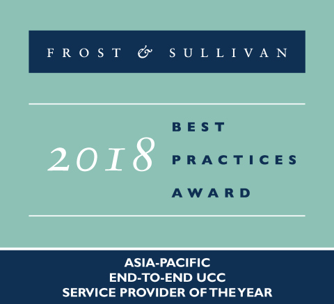 2018 Frost & Sullivan Asia-Pacific End-to-End UCC Service Provider of the Year (Graphic: Business Wire)