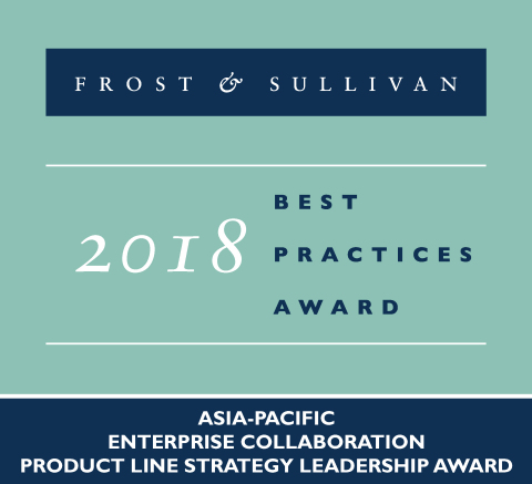 2018 Frost & Sullivan Asia-Pacific Enterprise Collaboration Product Line Strategy Leadership Award (Graphic: Business Wire)