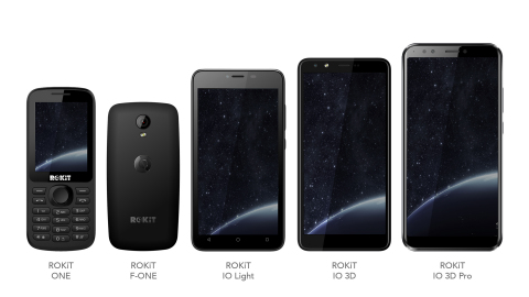 The latest collection of five ROKiT handsets featuring the humanity cell phone bundle, from innovative new telecommunications service brand ROKiT, which launches today. (Photo: Business Wire)