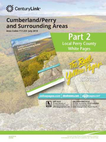 Supplemental directory for Cumberland/Perry directory (Photo: Business Wire)