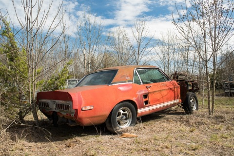 """Shelby's Little Red prototype GT500 EXP, the """"Holy Grail"""" of lost collector cars, located. (Photo: B ..."""