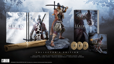 The Sekiro: Shadows Die Twice Collector's Edition, which is packed with collectible items, will be available for pre-order starting today in select markets. (Photo: Business Wire)