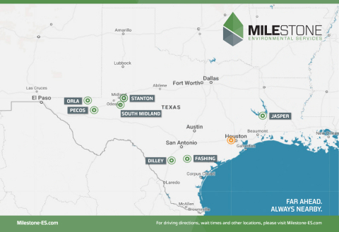 Milestone Environmental Services opened its fourth facility in the Permian Basin, its seventh in Tex ...