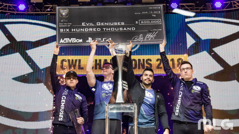 2018 CWL Champions: Tournament MVP Adam 'Assault' Garcia, Justin 'SiLLY' Fargo, Bryan 'Apathy' Zhely ...