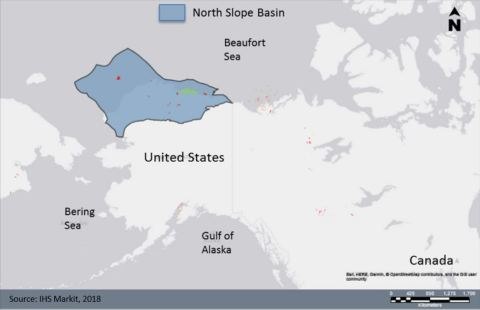 The Alaska North Slope (ANS) Basin -- a prolific source of U.S. oil production, is poised to re-emerge as a major source of U.S. energy production. Source: IHS Markit