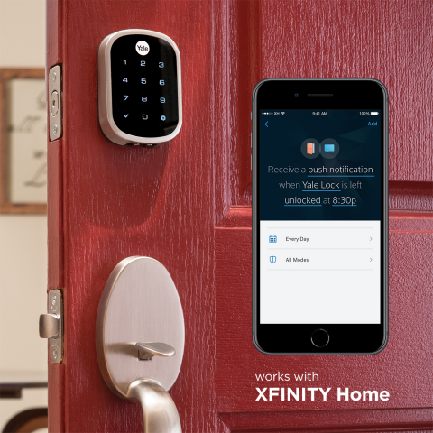 Xfinity Home Customers Can Now Manage and Control Smart Door Locks from Yale (Photo: Business Wire)