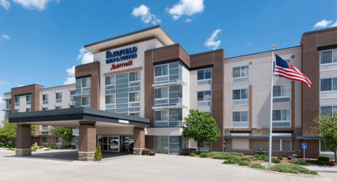 The Marriott Fairfield Inn & Suites Downtown Omaha, managed and owned by Scarlett Hotel Group, is on ...