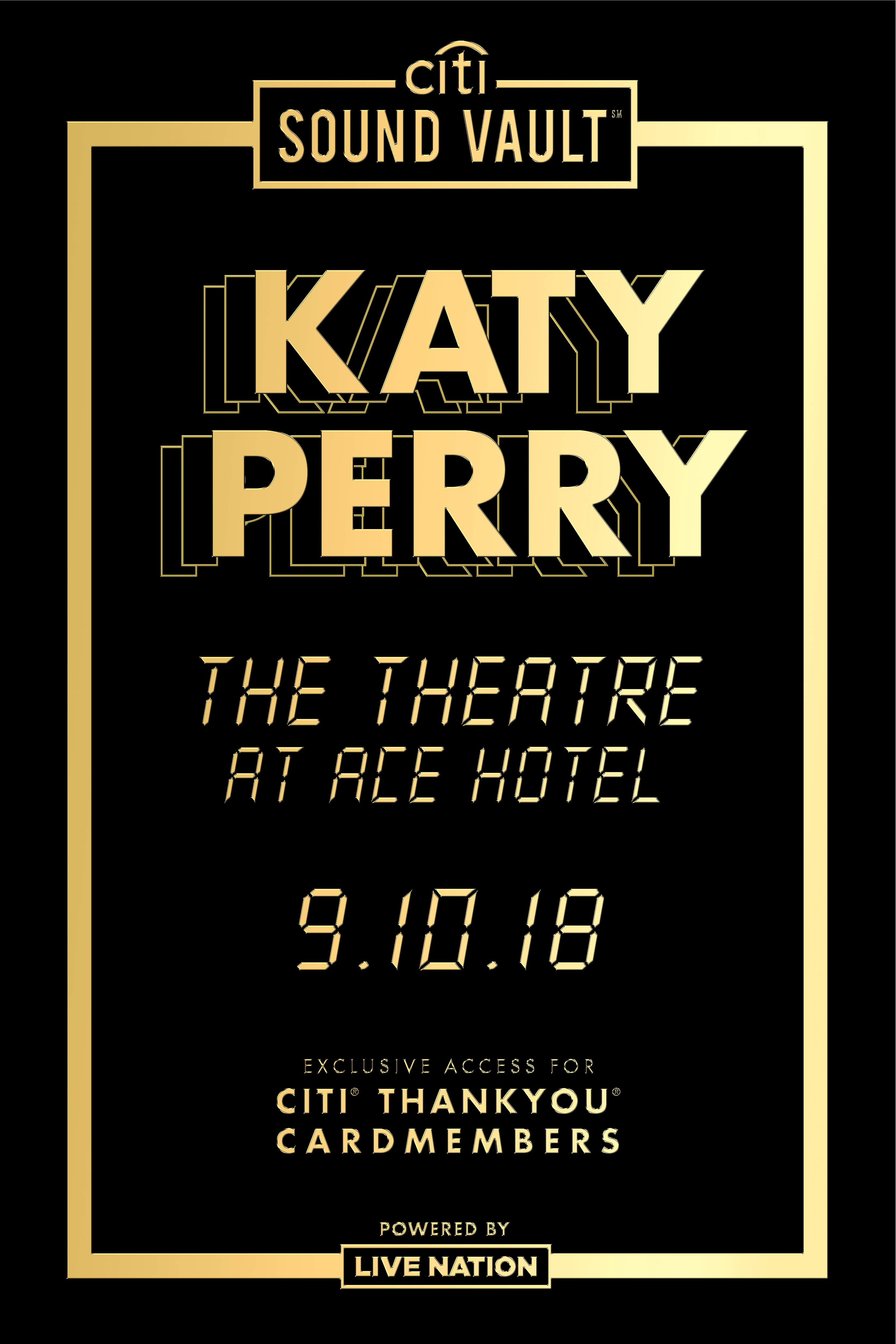 Citi Sound Vault Presents Katy Perry Live At The Theatre At Ace