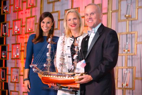 April Bailey, Port Bureau Dinner Committee Chairperson, and CAPT Bill Diehl, Port Bureau President,  ...