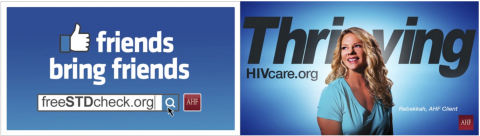The AIDS Healthcare Foundation releases two new outdoor advertising campaigns to encourage the publi ...