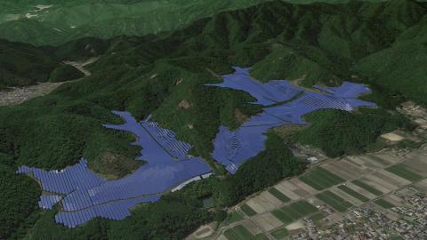 Yumesaki Mega Solar Power Plant Completion Image (Photo: Business Wire)