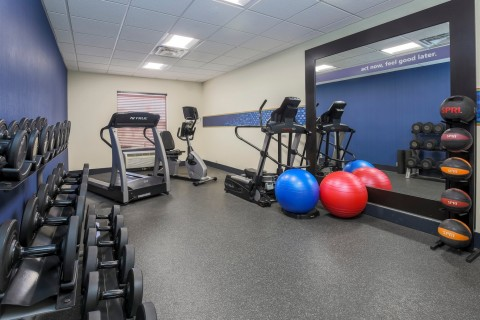 The fitness center is outfitted for cardio and weight training. (Photo: Business Wire)