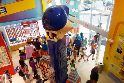 At the PEZ Visitor Center, stock up on candy and snackable historic content. (Photo: Business Wire)