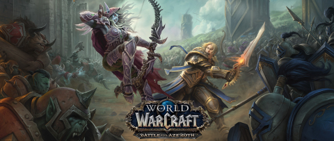 It's all-out warfare between the Horde and the Alliance in World of Warcraft: Battle for Azeroth (Graphic: Business Wire)