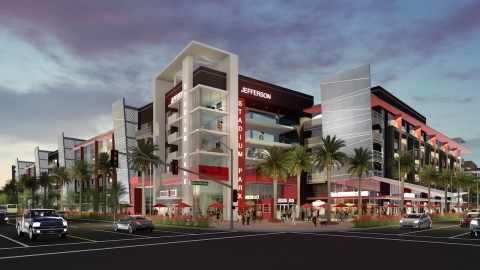 JPI has closed financing on Rev at Platinum Park, located across the street from Angel Stadium of An ...