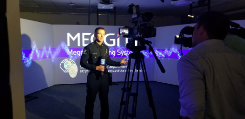 Commander Mat Sorenson speaks to the media about the benefits of virtual training (Photo: Business W ...