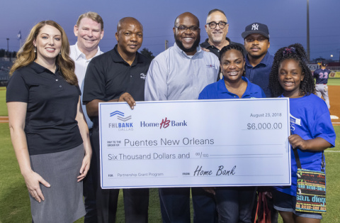 Puentes New Orleans received a $6,000 Partnership Grant Program award from Home Bank and FHLB Dallas ...