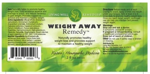 Weight Away Remedy label (Graphic: Business Wire)