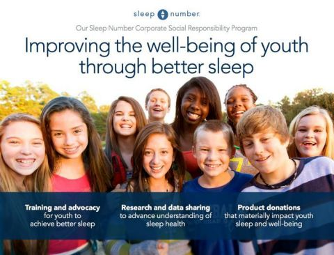 Sleep Number's committed to improve the overall well-being of one million youth through better sleep ...