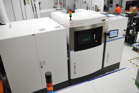 Sintavia's M400-4 has four lasers working together to complete builds up to 400 x 400 x 400 mm. (Photo: Business Wire)