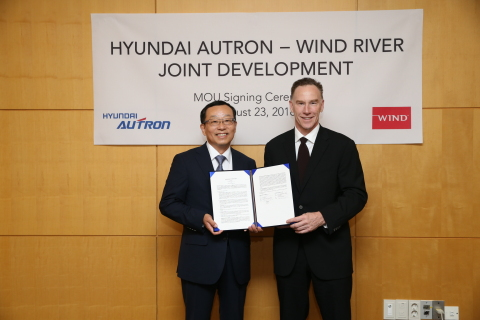 Hyundai Autron and Wind River collaborate on safe and secure software platform for connected and aut ...