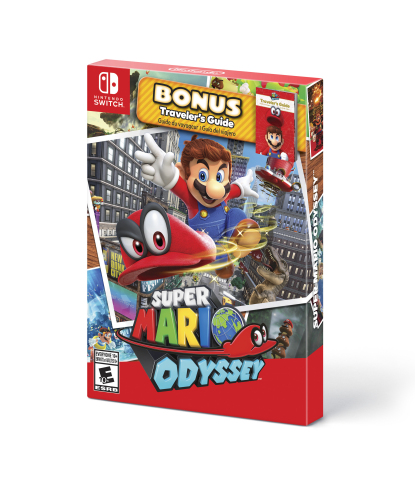 "On Sept. 28, the ""starter pack"" version of Super Mario Odyssey will launch with the game and a colorful strategy guide at a suggested retail price of $59.99. (Photo: Business Wire)"
