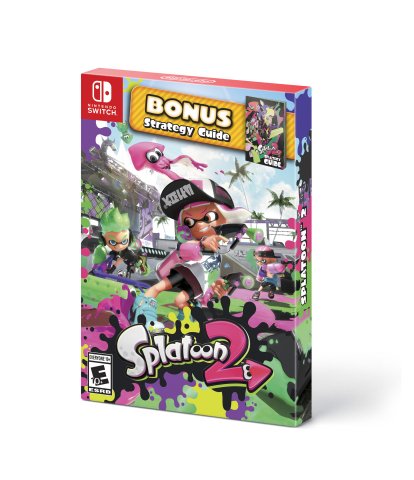 """On Sept. 28, the """"starter pack"""" version of Splatoon 2 will launch with the game and a colorful strategy guide at a suggested retail price of $59.99. (Photo: Business Wire)"""