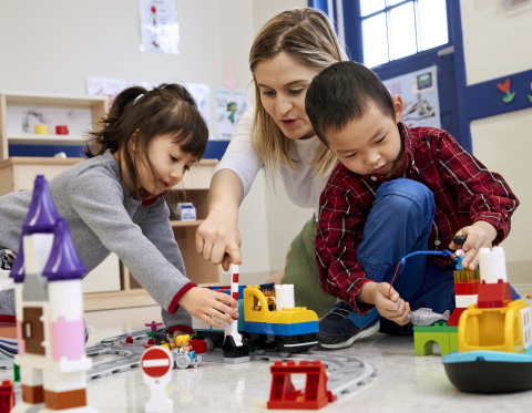 Early learners explore coding concepts with new hands-on LEGO® Education solution (Photo: Business W ...