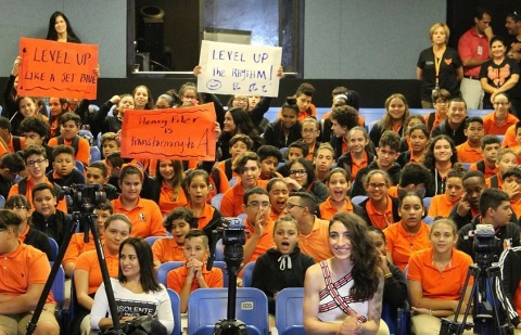 JetBlue, VH1 Save the Music & Singer Emily Estefan Bring Music Back to Miami's Filer Middle School F ...