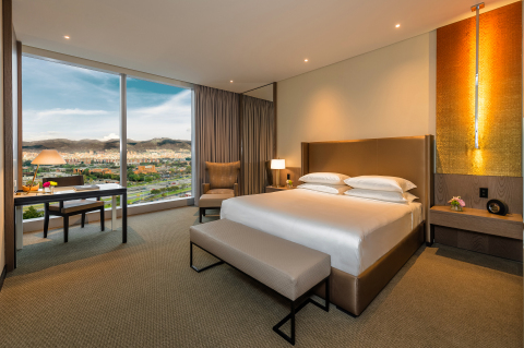 King guestroom with Andes views (Photo: Business Wire)