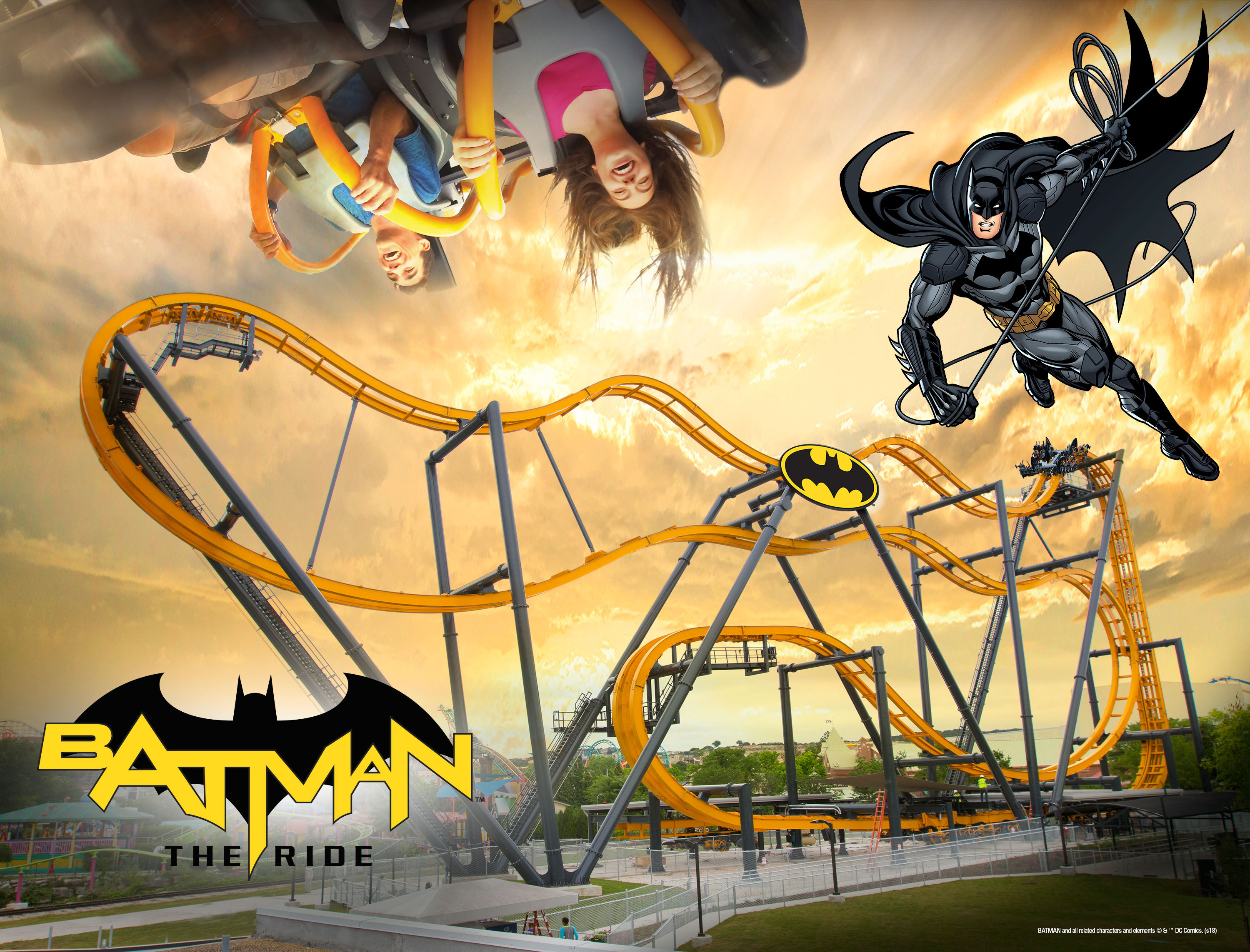 Free-Fly Coaster, Batman™: The Ride to Open at Six Flags