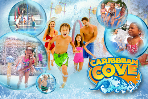 Splash and play in the tropical-themed Caribbean Cove, new at Six Flags Hurricane Harbor Concord in  ...