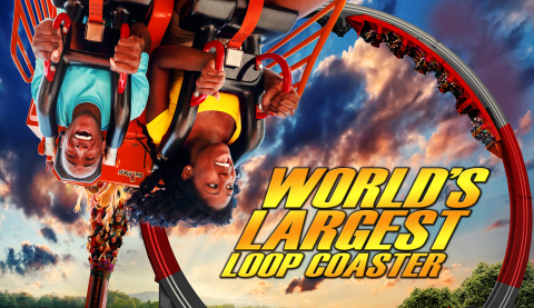 Lone Star Revolution, the world's largest loop coaster, is a record-breaking attraction that does a series of 360° revolutions giving riders plenty of adrenaline-pumping hang-time. (Photo: Business Wire)