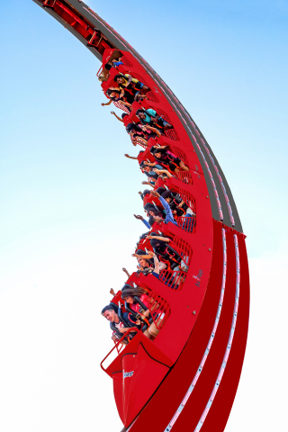 Towering a staggering 100 feet tall, Lone Star Revolution sends riders back and forth propelling them head over heels through a series of 360° revolutions. (Photo: Business Wire)