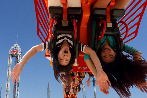 Lone Star Revolution will be the park's 14th coaster offering intense, heart-pounding hang time for riders as they enjoy going around the 10-story loop. (Photo: Business Wire)