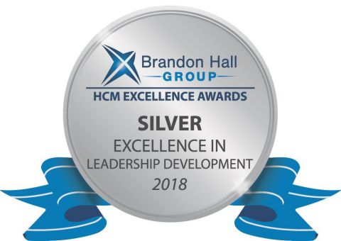 Brandon Hall Group Silver Excellence in Leadership Development 2018 (Graphic: Business Wire)