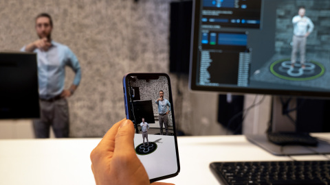 Jaunt XR Platform's volumetric capture solution processes content in real time and can be displayed via mobile device. (Photo: Business Wire)