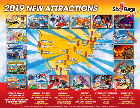 Six Flags Announces Thrilling Lineup of Record-Breaking Rides and Attractions for the 2019 Season. ( ...