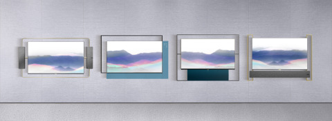 TCL Living Window Series Art Deco, Abstract Beauty, Modern Simplicity and Oriental Elegance (from left to right) (Photo: Business Wire)