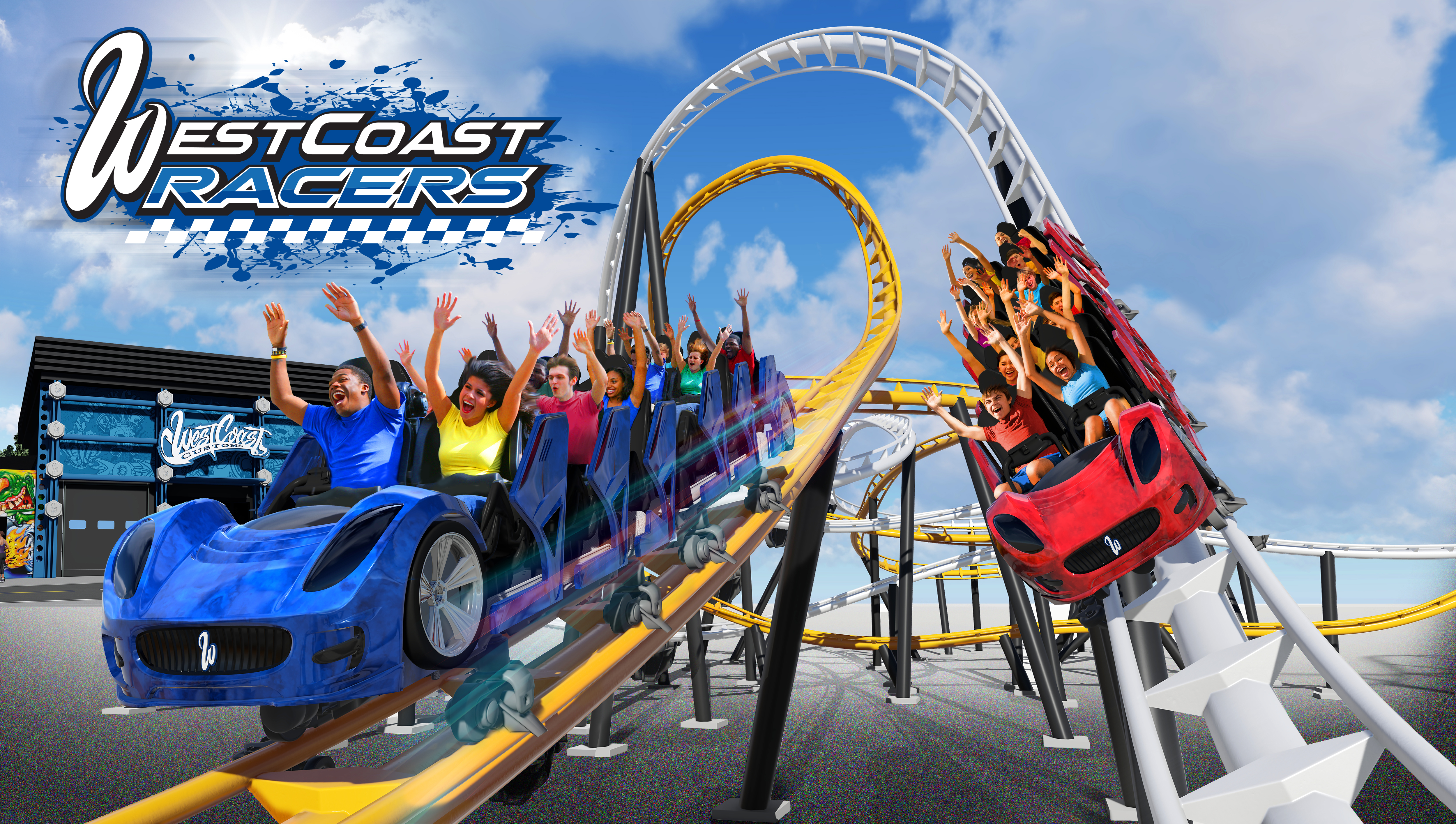 Speed Launch Roller Coaster Michaelieclark Diagram Of Kingda Ka Related Keywords Suggestions Worlds First Racing West Coast Racers Debuting At Six Flags Magic Mountain