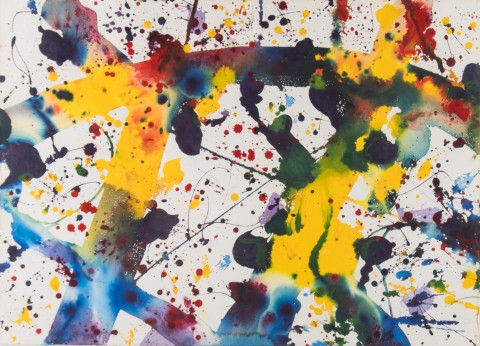 This original watercolor by Sam Francis, estimated at $40,000-60,000, will be among the fine appoint ...