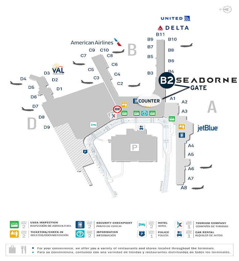 San Juan Airport Map Seaborne Airlines Improves Customer Experience at San Juan's Luis