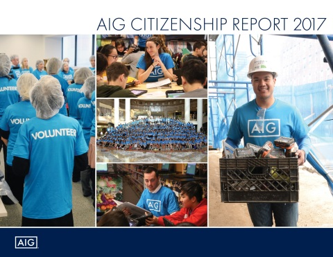 AIG 2017 Corporate Citizenship Report (Graphic: Business Wire)