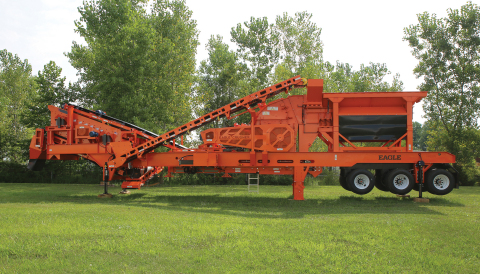The new, all-electric Stealth(TM) 500 from Eagle Crusher makes market entry easy for recycle concret ...